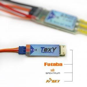 YGE TEXY Telmetr. Adapter FUTABA, FrSky, Spektrum