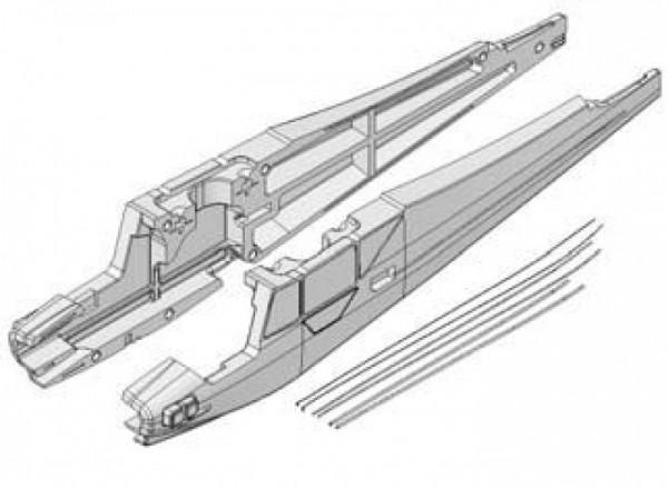 Rumpfhälften mit Bowdenzügen Easy Cub, Multiplex