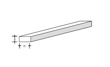 Plastikprofil-Rechteck 330x1,5x4,0