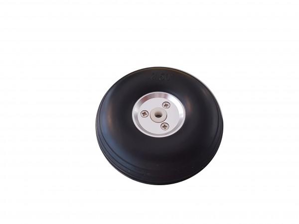 Ballon-Räder mit Alu-Felge 64 x24mm 4mm Achsen.