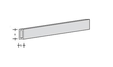 Plastikprofil-Rechteck-Rohr 330x 4x2