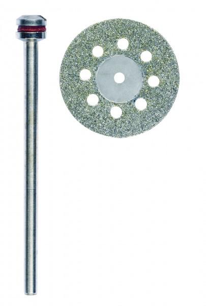 Diamantierte Trennscheibe, 20 mm, mit Kühllöchern