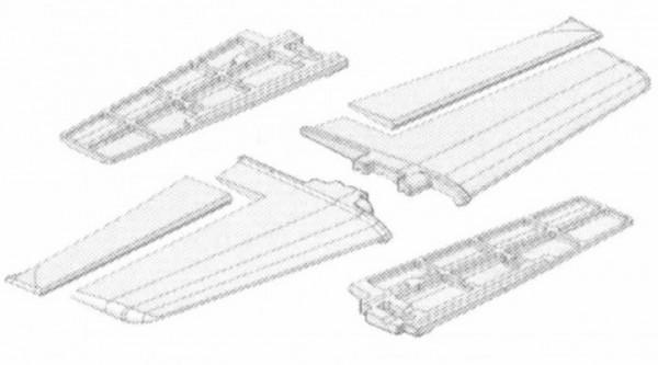 Tragflächen Acro Master, Multiplex