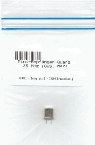 Mini-Empfänger-Quarz K 77 35 MHz (GWS, MKZ)
