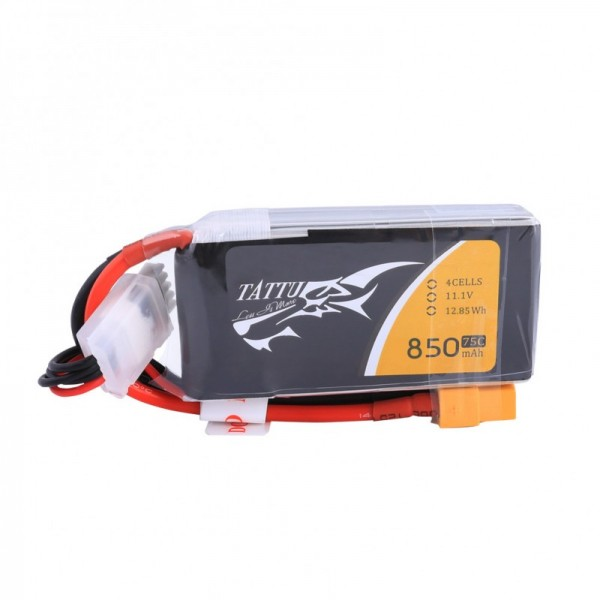 Tattu 850mAh 14.8V 75C 4S1P Lipo Battery Pack