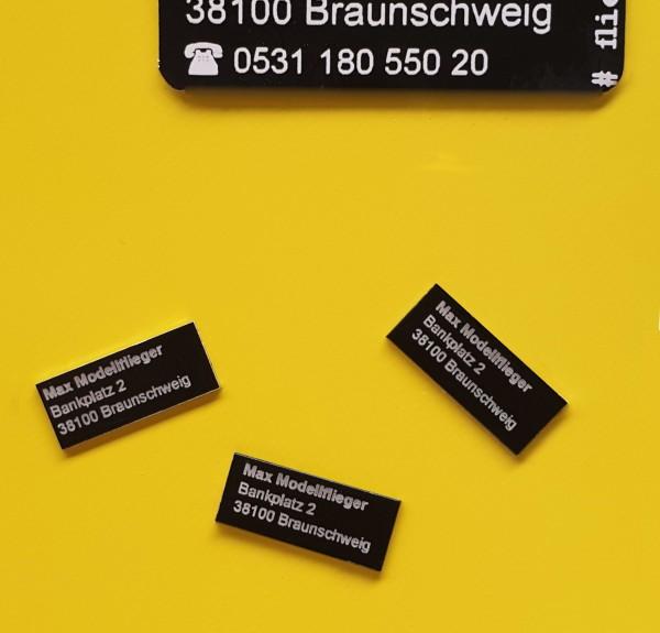 Kennzeichnungs Schild Dura Black 12 x 5 mm