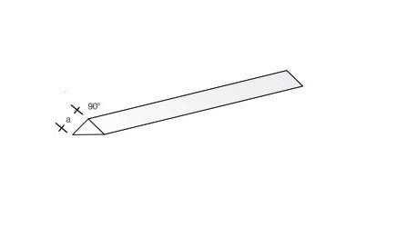 Plastikprofil-3kant/90 330x1,0