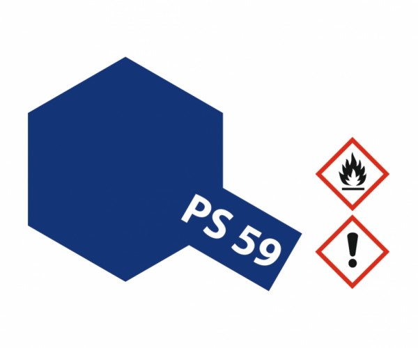PS-59 Dkl. Metallic Blau Polycarbonat 100ml