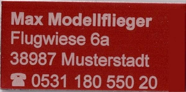Kennzeichnungs Schild rot 31 x 15 mm
