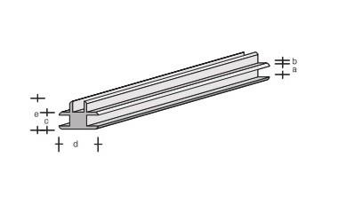 Plastik-T-Verbinder-Profil 330x2,0