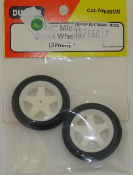 Moosgummi Räder 2 Stück 48mm weiß