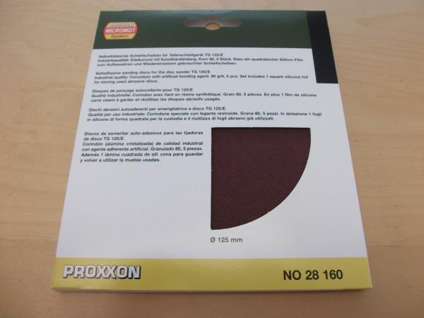 EK Schleifscheiben für TG 125/E, Korn 80