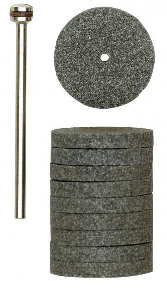 Silizium-Carbid-Schleifscheiben, 22 mm, 10x m.Träg