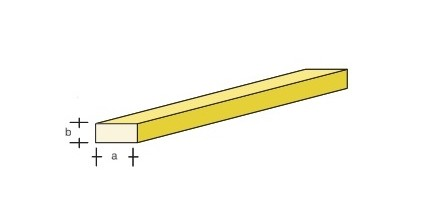 Messing-4kant 330x1,0x0,6