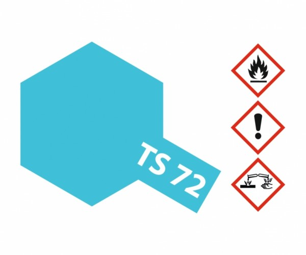 TS-72 Blau Transpar./Klar glänzend 100ml