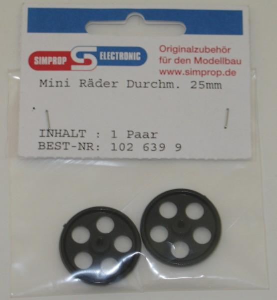 Slowfly-Räder 2 Stück 25mm